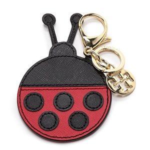 🆕 Tory Burch Kerrington Appliqué Ladybug Key Fob